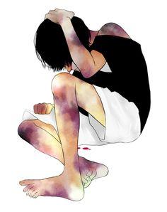 My boy Shiv. Cry all the tears. Anime Guys, Manga Anime, Anime Art, Ero Guro, Psycho Girl, Manga Illustration, Dark Anime, Yandere, Dark Art