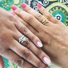 """Bernadette Aguilar on Instagram: """"It was #nationalfriendshipday on 2nd August, 2015. So in honor of my #bff I got my Sis and I matching #satyajewelry #hamsa and #lotus rings. They symbolize new beginnings, protection and blessings. Together, with our friendship, we have positive energy.   ya sis. We are complete opposites (gold and silver) but we find common ground and support each other no matter what. ☺️"""""""