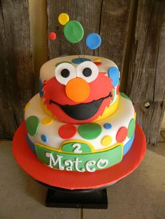 Possible Elmo cake for Allison's birthday party @Adriane Bushman