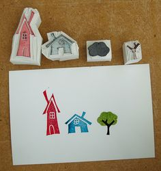 DIY stamps. I like the cute simplicity of the designs. Plus I could probably actually pull off carving them.