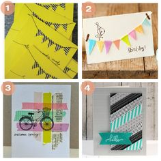 DIY Washi Tape Card ideas get washi tape at melseclecticsupplies on easy