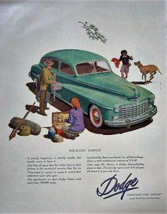 1948 Dodge Sedan Vintage Advertisement Automotive Wall Art Classic Car Decor Original Magazine Print Ad Antique Automobile Ephemera by RelicEclectic on Etsy