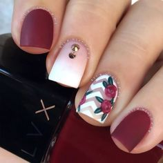 33 Super Pretty Flower Nail Designs To Copy Floral nail designs are among the most popular because we consider flowers to be synonymous to the [. Cute Acrylic Nails, Cute Nails, Pretty Nails, Flower Nail Designs, Nail Art Designs, Nails With Flower Design, Fall Toe Nail Designs, Popular Nail Designs, Hair And Nails