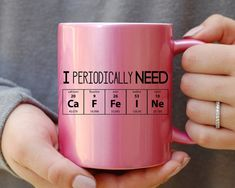 I love a good science pun/joke. I periodically need caffeine chemistry elemental chart coffee mug affiliate link. Coffee Love, Coffee Cups, Tea Cups, Coffee Beans, Coffee Drinks, Coffee Coffee, Cute Mugs, Funny Mugs, Coffee Humor