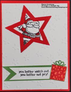 TxStampinSharon: Get Your Santa On