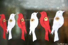 Ready+to+Ship+SALE+Paper+Garland+LOVE+BIRDS+Wedding+by+LaMiaCasa,+$10.00