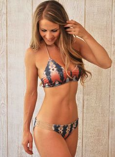 ab5e642c73435 Best Boho Tie-dye bikini swimsuit by Water Glamour Swimwear - cheeky bikini  bottom or scrunch bikini bottom