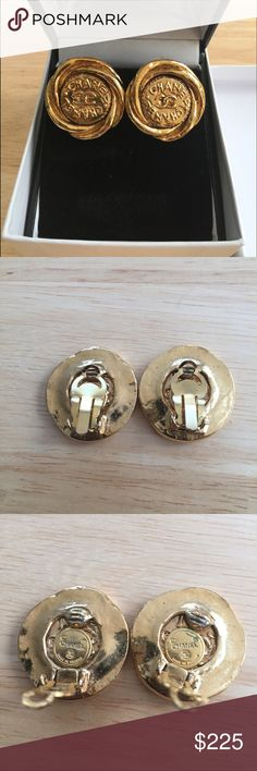 ❤️Chanel gold tone swirl style Clip on earrings❤️ ❤️Treat yourself and enjoy these earrings❤️Posted for Valentines sale only!!! Grab now, vintage style swirl Clip on earrings by Chanel approx 1.5 x 1.5, earring have some tarnishing, no Chanel Box 🚫MODEL 🚫TRADES CHANEL Jewelry Earrings
