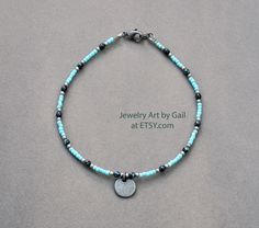 Anklet Jewelry, Beaded Anklets, Jewelry Art, Beaded Bracelets, Unique Jewelry, Necklace Ideas, Seed Beads, Pewter, Antique Silver