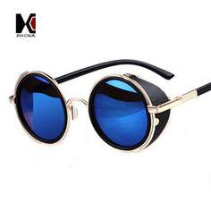 e85022b6a08a3d Steampunk Retro Round Sunglasses UV400. Lunettes De Soleil RondesLunette ...