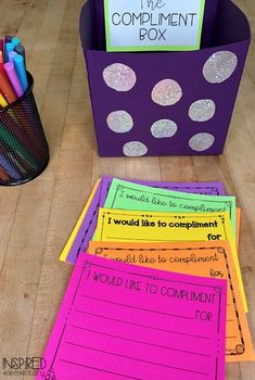 The Compliment Box | Inspired Elementary - FREEBIE! This classroom management tool is a must-have for all teachers!