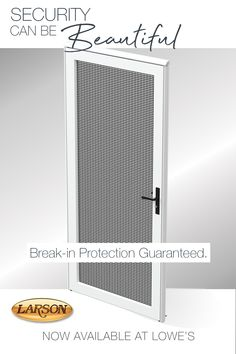 LARSON Platinum SCR White Linen Aluminum Prehung Single Door Security Door (Common: x Actual: x at Lowe's. Enhance your home's security and curb appeal with an effortless door install. The LARSON® Platinum Secure Screen door is the ultimate in screen door Home Improvement Projects, Home Projects, Spanish Style Homes, Home Fix, Diy Home Repair, Security Door, Home Upgrades, Single Doors, Home Remodeling
