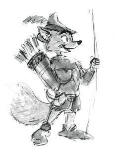 .disney concept art for ROBIN HOOD