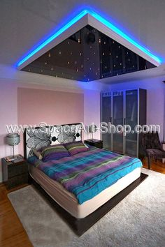 Stretch Ceilings-NY Sleeping in Comfortable Luxury. Love where you sleep. Living Room Decor, Bedroom Decor, Im Not Perfect, House Design, Led Strip, Luxury, A5, Ceilings, Bedrooms