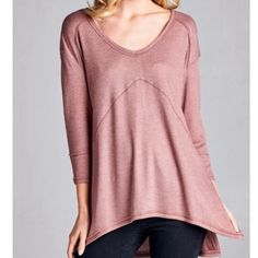 Southern Girl Fashion Tops - SWING TUNIC Ribbed Thermal Pullover Layering Top