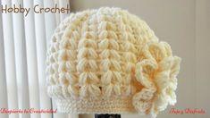 Gorro a crochet en punto puff en forma de espiga. En este tutorial explico como hacer un gorro a crochet en punto puff en forma de espiga, paso a paso. How to crochet a winter cap in puff stitches in form of spikes, step by step. Bonnet Crochet, Crochet Beanie Hat, Crochet Baby Hats, Crochet Braids, Crochet For Kids, Diy Crochet, Beanie Hats, Knitted Hats, Learn Crochet