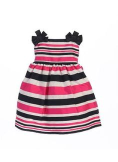 Baby's Striped Satin Dress