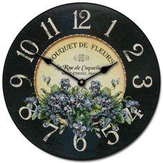 Bouquet+de+Fleurs+Clock