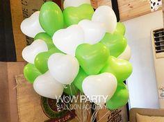 12インチ風船 ハートバルーン ホワイト15本+ライムグリーン15本:Amazon.co.jp:おもちゃ