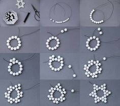DIY Beaded Six Point Star Picture Tutorial