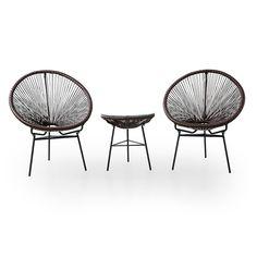 ラタン調アジアモダンテイストのガーデンテーブル3点セット | 家具・インテリアの総合通販 LOWYA【ロウヤ】 Garden Chairs, Japanese Design, Dining Chairs, Interior, Furniture, Home Decor, Lawn Chairs, Japan Design, Dining Chair