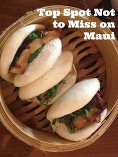 You must eat here while vacationing on Maui: Star Noodle #Maui #dining #steamedporkbuns