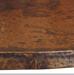 Created By Old World Craftsmen, With Centuries Old Metal Working  Techniques, Our Copper Table Tops Have A Hand Hammered Surface And A Richly  Colored Patina ...