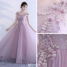 Chic / Beautiful Blushing Pink Prom Dresses 2018 A-Line / Princess Appliques Scoop Neck Backless Sleeveless Floor-Length / Long Formal Dresses Elegant Dresses For Women, Wedding Dresses For Girls, Wedding Bridesmaid Dresses, Stunning Dresses, Beautiful Gowns, Pretty Dresses, Prom Dresses 2018, Gala Dresses, Quinceanera Dresses