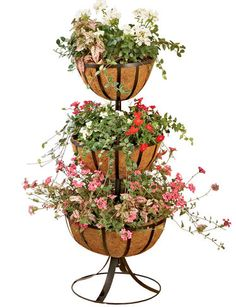 Hayrack Tiered Plant Stands with AquaSav™ Liners