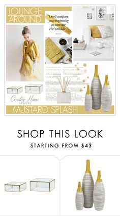 """Mustard Splashes - Home"" by nonniekiss ❤ liked on Polyvore featuring interior, interiors, interior design, home, home decor, interior decorating, Hübsch and Nest Fragrances"