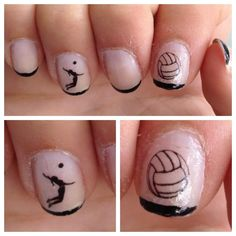 Check out this years newest Volleyball nails. Volleyball is a great way to keep the entire body in shape. Consider taking up the sport today.