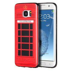 Telephone Booth TPU/IMD Samsung Galaxy S7 Edge Smartphone Case