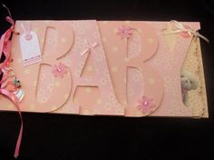 Baby Girl Word Album  'Lydia Rose'  5 pages by RoseAnnaKeepsakes, £35.00
