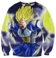 Final Flash Vegeta Hoodie - Dragon Ball Z Hoodies - DBZ Full Printed Clothing