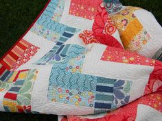 A splendid birthday gift quilted with four beautiful Aurifil 50 wt colors! See more of this beauty at In My Sewing Room  http://inmysewingroom.com/2012/07/salt-air/