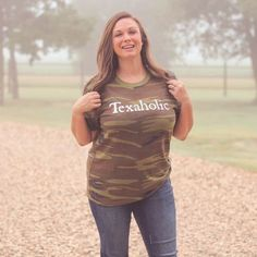 Texaholic Camo Unisex Fit Graphic Tee