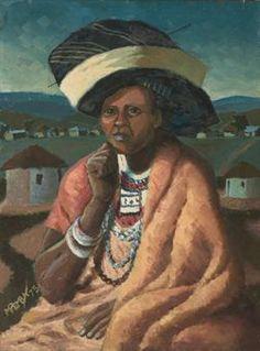 From Johans Borman Fine Art, George Pemba, 'Xhosa woman' Oil on canvas, × cm Pretty Drawings, South African Artists, Baby Art, Ivory Coast, Sierra Leone, Artist Painting, Black Is Beautiful, Art Boards, Oil On Canvas