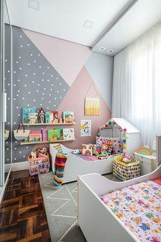 Bedroom Wall Designs, Room Design Bedroom, Room Ideas Bedroom, Home Room Design, Kids Room Design, Baby Room Decor, Bedroom Decor, Girls Room Paint, Kids Bedroom Paint