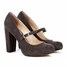 Brown heels that are perfect for fall.