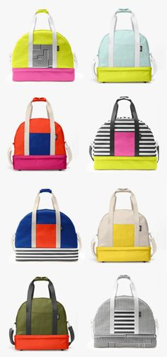 Customize your own colorful weekender bag by Kate Spade 0a545c9a9e513