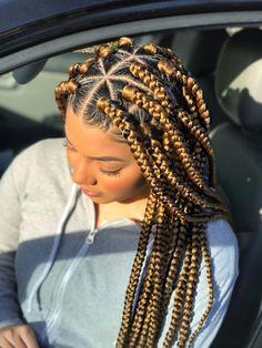 Pink Box Braids, Brown Box Braids, Short Box Braids, Small Braids, Braided Hairstyles Updo, Box Braids Hairstyles For Black Women, Natural Hairstyles, Modern Hairstyles, Beautiful Hairstyles