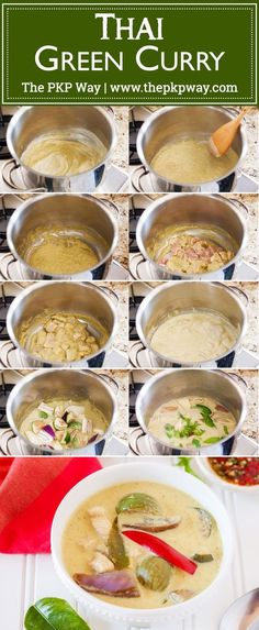An authentic Thai Green Curry recipe, adapted from a Thai restaurant chef and modified for the home cook.