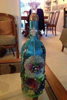 mosaic bottle craft