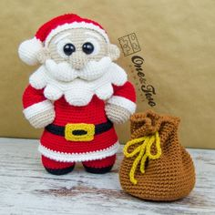 """Claus the Little Santa """"Little Explorer Series"""" Amigurumi Crochet Pattern by One and Two Company"""