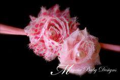Pink Hearts Headband / Valentine's Headband by ManaiaBabyDesigns, $6.50
