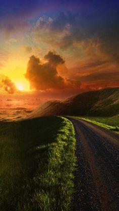 Heaven Path, Sunset, Nature