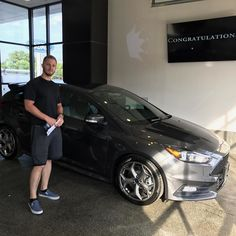 Russell and his new Focus ST. Congratulations and Thank You for choosing #KoonsFord #Annapolis to be your #Ford dealer. #FordFamily #TeamKoons #allsmiles #fordfocusst #YoureGonnaLoveIt sold my @danpolgreen