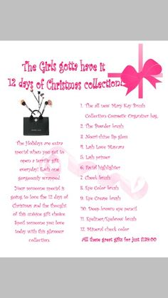 Mary kay 12 days of christmas gift ideas