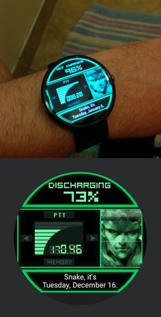 Metal Gear Solid Codec Smartwatch Face: Moto 360 by Mei Ling I hope the alarm… Chicken Hats, Metal Gear Solid Series, Metal Gear Rising, Facebook E Instagram, Silver The Hedgehog, Superhero Design, Cool Inventions, Tecno, Retro Toys