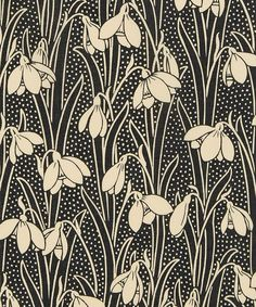 Ideas for art nouveau motif floral Textiles, Textile Patterns, Textile Design, Print Patterns, Pattern Designs, Vintage Wallpaper, 4 Wallpaper, Pattern Wallpaper, Motifs Art Nouveau